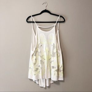 Free People Split Back Tank Top